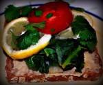 kale lemon sandwich