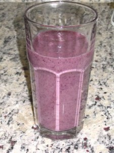 Breakfast Oat Blueberry Smoothie
