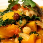 squash, carrot, kale, chickpea stew