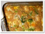 broccoli cauliflower vegan casserole