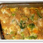 broccoli cauliflower vegan casserole