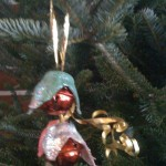 egg carton christmas ornament