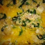 Cheesy Quinoa With Kale and Eggs