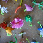 Peg Board and Pipe Cleaner Play Garden