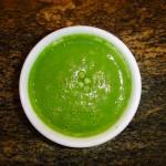 Raw Celery, Green Pea and Avocado Soup