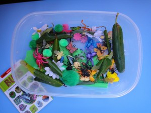 bug themed sensory tub