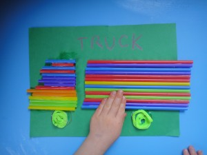 Drinking Straw Truck Craft