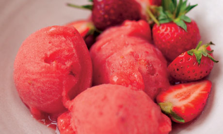 Homemade strawberry sorbet sisterspd