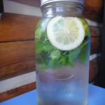 Mint and Lemon-Flavored Water