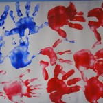 4th of July Handprint Painting - The Flag