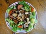 Roasted Mushroom, Tomato, Avocado Salad