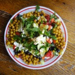 Strawberry, Lettuce and Roasted Chickpea Salad
