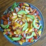 Strawberry Peach Avocado Salad