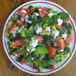 Spicy Veggie Salad With Blackberries