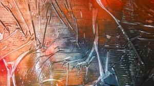 saran wrap painting