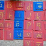 montessori uppercase and lowercase letters