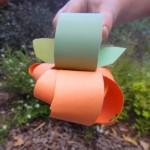 Construction Paper Pumpkin Craft