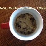 1 Minute Healthy Chocolate Chip Cookie in a Mug