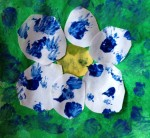 Daisy flower mosaic aplique for preschoolers and toddlers