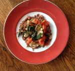 veggie stir-fry over brown rice is a quick and delicious vegan dinner
