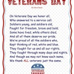 veterans day poem for preschool