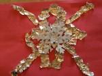 Aluminum foil snowflake craft