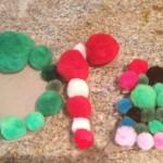 Three types of pompom ornaments