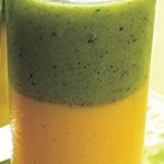 Layered Orange and Green Smoothie