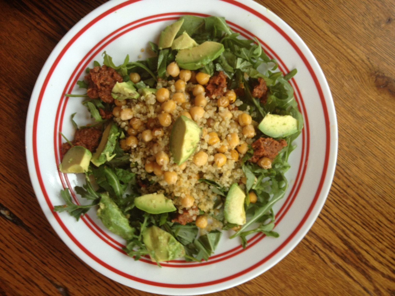 Sun Dried Tomato,Quinoa and Chickpea Salad