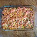 bell pepper and pasta casserole, gluten-free