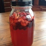 cranberry and raspberry kombucha