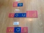 sight words memorization, using montessori method