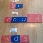sight words memorization, using montessori method