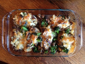 Vegetarian baked potato casserole