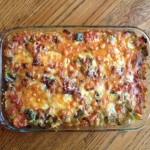 Gluten-Free Potato, Bell Pepper, Tomato Casserole