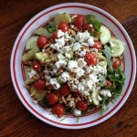 Spinach, Cherry Tomato, Goat Cheese Salad