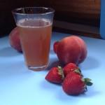Strawberry Peach Ginger Kombucha