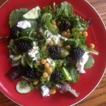 chickpeas, blackberries and goat cheese skinny salad