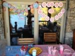 boy girl twins birthday: race cars and butterflies