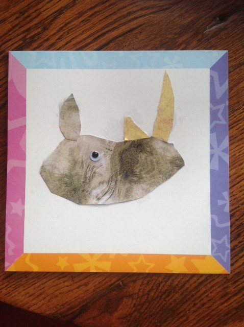 Kid S Craft Cut And Paste Rhino Healthy Mama Info