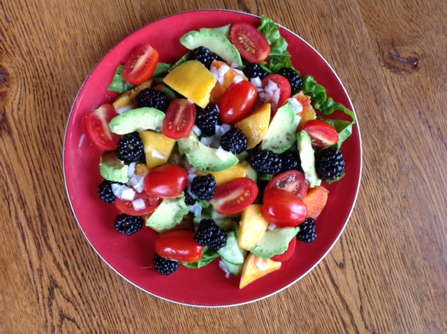Vegetable Salad with Fruit