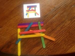 Craft stick matching patterns
