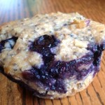 Blueberry, Chia, Oatmeal Muffins for a healthy breakfast