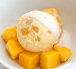 Raw mango coconut ice cream
