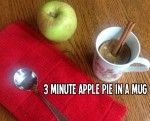 easy 3 minute apple pie in a mug