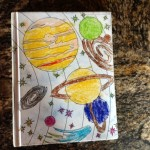 Homemade book about the solar system