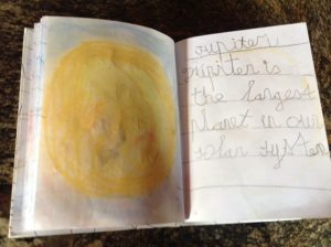 Homemade kid book about the solar system