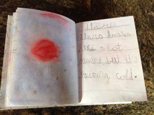 Preschool, kindergarten Homemade book about the solar system