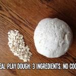 no cook oatmeal play dough