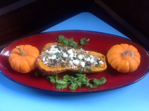 butternut squash stuffed with quinoa and black beans